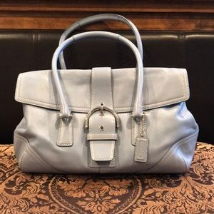 Coach Blue Leather Satchel